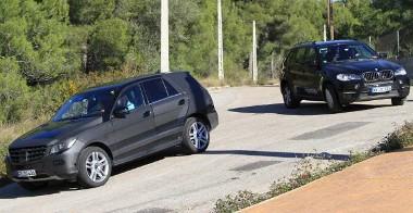... de a BMW X5-�s is ott van a c�lkeresztben
