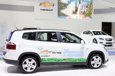 Sz�z aut�t - k�zt�k h�sz darab Orland�t - adom�nyoz a Chevrolet az SOS Gyermekfaluknak 2011-ben