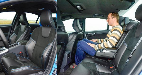 Komfortos �s hat�rozott oldaltart�s� �l�sek? A Volvo megcsin�lta! �rz�dik, hogy az S60-as a kisebb k�z�pkateg�ri�sok k�z� tartozik
