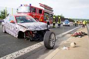 Balesetet szenvedett egy BMW 2-es kup� protot�pus